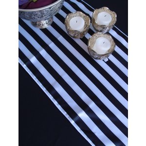 【在庫限り】テーブルランナー テーブルセンター ストライプ 白黒|atsumeru
