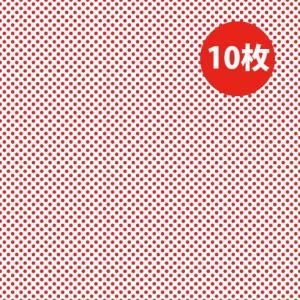 「薄口 赤 10枚」 ラッピングペーパー クリスマス バレンタイン ドット レッド 水玉 薄い|atsumeru