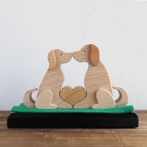 知育玩具 木のおもちゃ 「ワンラブ」 いぬ 誕生日 正月 ギフト 幼児 置物 インテリア 飾り 日本製 定形外郵便OK|atsumeru