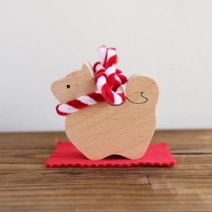 木のおもちゃ 「曙」 いぬ 誕生日 正月 ギフト 置物 インテリア 飾り 日本製 定形外郵便OK|atsumeru