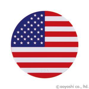 国旗コースター ワールドフラッグコースター アメリカ USA (1セット10枚入り)|atta-v