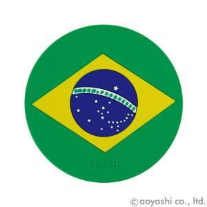 国旗コースター ワールドフラッグコースター ブラジル BRAZIL (1セット10枚入り)|atta-v