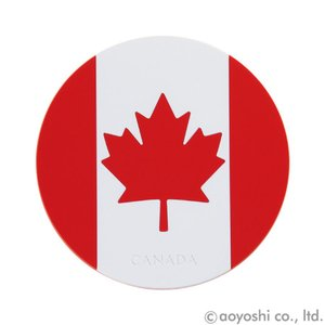国旗コースター ワールドフラッグコースター カナダ CANADA (1セット10枚入り)|atta-v