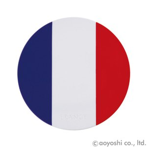 国旗コースター ワールドフラッグコースター フランス FRANCE (1セット10枚入り)|atta-v