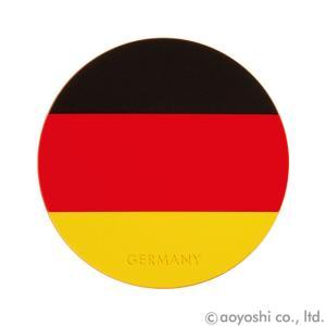 国旗コースター ワールドフラッグコースター ドイツ GERMANY (1セット10枚入り)|atta-v