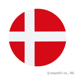 国旗コースター ワールドフラッグコースター デンマーク DENMARK (1セット10枚入り)|atta-v