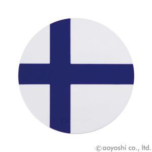 国旗コースター ワールドフラッグコースター フィンランド FINLAND (1セット10枚入り)|atta-v