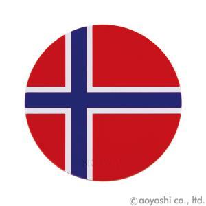 国旗コースター ワールドフラッグコースター ノルウェイ NORWAY (1セット10枚入り)|atta-v