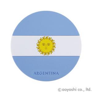 国旗コースター ワールドフラッグコースター アルゼンチン ARGENTINA (1セット10枚入り)|atta-v