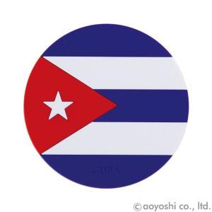 国旗コースター ワールドフラッグコースター キューバ CUBA (1セット10枚入り)|atta-v