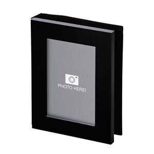 フォトフレーム 写真立て アルバム 黒 103544 記念品 ギフト ノベルティ (名入れ別途お見積り)|atta-v