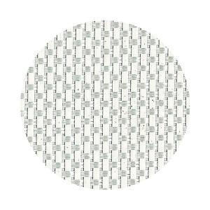 コースター 丸型 ホワイト格子 1セット5枚入り|atta-v