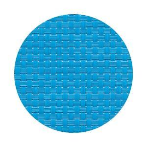 コースター 丸型 ブルー格子 1セット5枚入り|atta-v