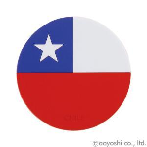 国旗コースター ワールドフラッグコースター チリ CHILE|atta-v