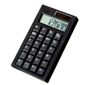電卓 計算機 カリキュレータ− 黒 (1個) 32042 atta-v