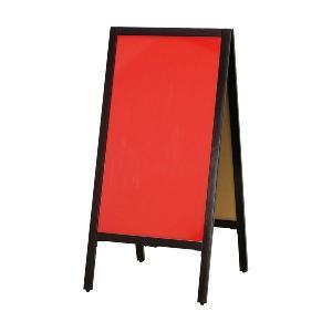 A型看板 (大) レッドボード (赤) こげ茶枠 木製 両面マーカー用 ABS-14R 立て看板 置き看板 店舗用 atta-v
