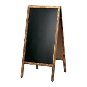 A型看板 (大) 焼杉枠 ブラックボード 木製 両面 マーカー用 ABS-31B 立て看板 置き看板 店舗用 atta-v
