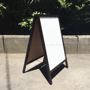 A型看板 (小) 茶枠 ホワイトボード 木製 両面 マーカー用 ABS-42W 立て看板 置き看板 店舗用 atta-v