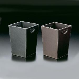 トラッシュケース (ごみ箱) アメニティ用品 AC-10 ポリ塩化ビニル ブラック・ブラウン|atta-v