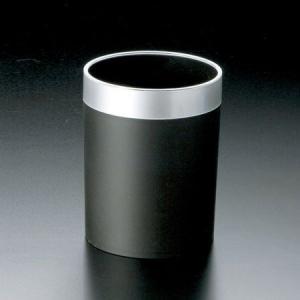 トラッシュケース (ごみ箱) アメニティ用品 AC-11 ABS樹脂 ブラック|atta-v