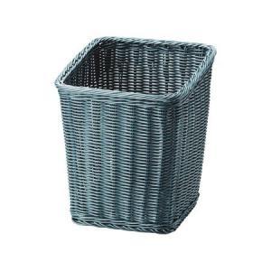 トラッシュケース (ごみ箱) アメニティ用品 AC-14 ポリプロピレン ブルーグリーン|atta-v