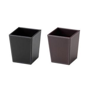トラッシュケース (ごみ箱) アメニティ用品 AC-17 ポリ塩化ビニル ブラック・ブラウン ミニトラッシュ&マルチケース|atta-v