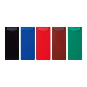 伝票ホルダー (伝票ばさみ 伝票バインダー お会計クリップ) 1枚タイプ・マグネット式 ABS樹脂 BH-43(大) 黒・茶・赤・緑・青|atta-v