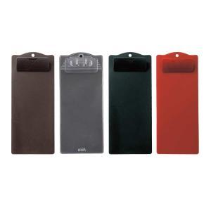 伝票ホルダー (伝票ばさみ 伝票バインダー お会計クリップ) 1枚タイプ・クリップ付 ABS樹脂 BH-72(中) 黒・茶・赤|atta-v