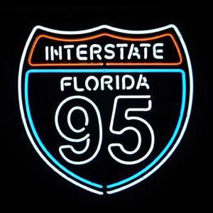 ネオンサイン インターステイツ フロリダ95  BNS-005 INTERSTATE FLORIDA 95 ネオン管|atta-v