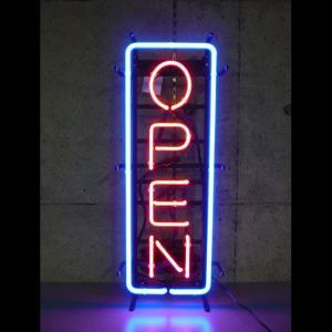 ネオンサイン OPEN 縦長オープン (L)  BNS-010 VERTICAL NEON (L) ネオン管|atta-v