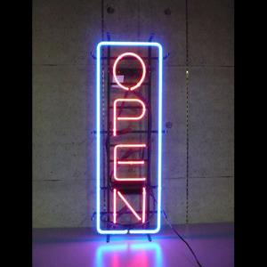 ネオンサイン OPEN 縦長オープン (LL)  BNS-011 VERTICAL NEON (LL) ネオン管|atta-v
