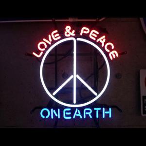 ネオンサイン ラブアンドピース オン アース LOVE&PEACE ON EARTH ネオン管|atta-v