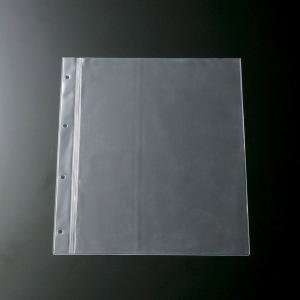メニュー用中ビニール A4・4穴 ビニール・3本ライン BP-A44 (ページ追加用ビニール リフィル)|atta-v