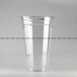 プラカップ 480ml(16オンス) 89mm口径 1000個 (PET製) クリアーカップ89-16オンスSNP (お祭り イベント テイクアウト 業務用 使い捨て)|atta-v