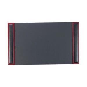 高級デスクマット 業務用 本革 合皮 木製 黒xローズウッド DM-304 atta-v