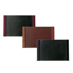 デスクマット 業務用 本革 木製 木色:黒・茶・紅 DM-502