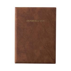 インフォメーションブック A4・6ページ固定・INFORMATION印字入り IF-2 (ホテル 旅館 宿泊施設 客室用 客室案内)|atta-v