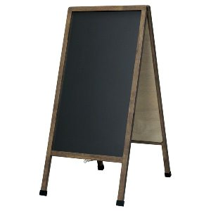 アンティーク A型看板 (大) ブラックボード 木製 両面 マーカー付 LNB110 立て看板 置き看板 店舗用 atta-v