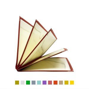 別注テーピングカラー クリアメニューブック (A4・10ページ) LTA-410 SPC 合皮クリアテーピングメニュー atta-v