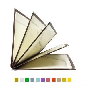 別注テーピングカラー クリアメニューブック (B4・10ページ) LTB-410 SPC 合皮クリアテーピングメニュー atta-v
