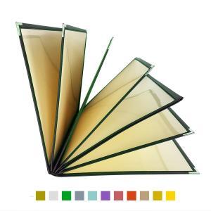 別注テーピングカラー クリアメニューブック (B4・14ページ) LTB-414 SPC 合皮クリアテーピングメニュー atta-v
