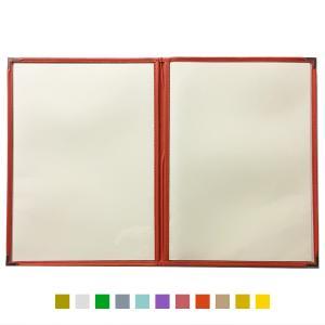 別注テーピングカラー クリアメニューブック (B4・4ページ) LTB-44 SPC 合皮クリアテーピングメニュー atta-v