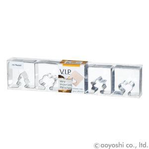 ステンレスクッキー抜型 4PCSセット V.I.P I MQ-GB-143227|atta-v