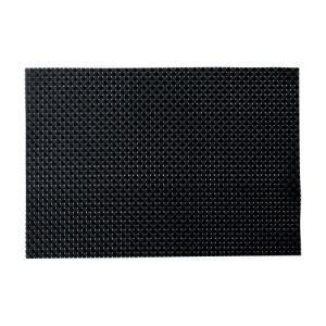 ランチョンマット テーブルマット 大 PM-103 ブラック&ブラックチェック (5枚セット)|atta-v