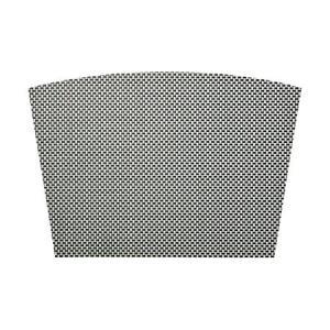 ランチョンマット テーブルマット 扇形 PM-301 ブラック&ホワイトチェック デスクマット (5枚セット)|atta-v