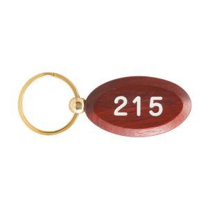 木製キーホルダー 茶(ローズウッド) RP-0861 楕円型 ルームキーホルダー 旅館 宿泊施設 客室用 ホテルキー (名入れ別途見積り)|atta-v