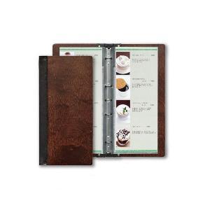メニューブック 和風 洋風 A4縦長・8ページ 木製・バインダータイプ スリム-B・SHO-103|atta-v