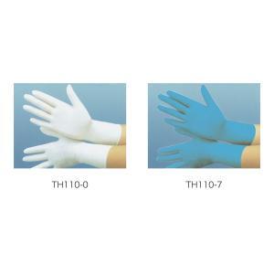 手袋(ブルー) ニトリル手袋・1箱100枚入り TH110-7 衛生用品 ユニフォーム|atta-v