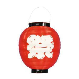 八寸丸祭柄ポリちょうちん 赤(祭柄) φ225xH240mm ※ポリエチレン製 8884|atta-v
