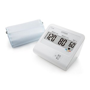 シチズン CHU302 電子血圧計 上腕式血圧計(腕帯巻きつけタイプ)「オリジナル血圧手帳」付属|attack-akiba